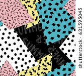 seamless summer pattern. vector ... | Shutterstock .eps vector #631595045