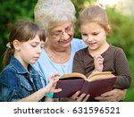 education concept  grandmother... | Shutterstock . vector #631596521