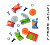 recycling garbage metal...   Shutterstock .eps vector #631602341