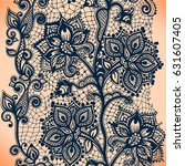 abstract lace ribbon vertical...   Shutterstock .eps vector #631607405