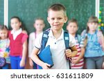 portrait of a group of primary... | Shutterstock . vector #631611809