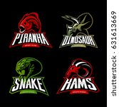 furious piranha  ram  snake and ... | Shutterstock .eps vector #631613669