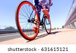 man cycling on sport bike  ... | Shutterstock . vector #631615121