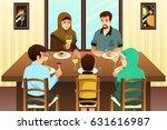 a vector illustration of muslim ... | Shutterstock .eps vector #631616987