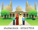 a vector illustration of muslim ... | Shutterstock .eps vector #631617014