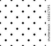 vector black polka dot pattern | Shutterstock .eps vector #631617191