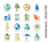 ecology and nature icons ... | Shutterstock .eps vector #63161785