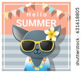 hello summer background with... | Shutterstock .eps vector #631618805
