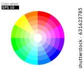 color wheel 12 colors vector