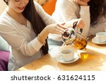 cropped shot of a cheerful... | Shutterstock . vector #631624115