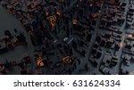 3d rendered digital abstract... | Shutterstock . vector #631624334