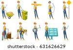 smiling caucasian carpenter... | Shutterstock .eps vector #631626629