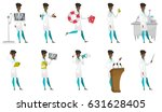 african pharmacist holding a... | Shutterstock .eps vector #631628405