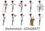 young african roentgenologist... | Shutterstock .eps vector #631628477