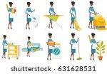 african american housekeeping... | Shutterstock .eps vector #631628531