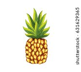 delicious pineapple tropic... | Shutterstock .eps vector #631629365