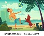 happy smiling man character... | Shutterstock .eps vector #631630895