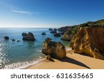 view of the alemao beach  praia ... | Shutterstock . vector #631635665