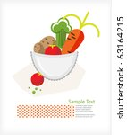 carrot  potato  tomato and... | Shutterstock .eps vector #63164215