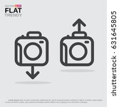 photo camera icon or logo with... | Shutterstock .eps vector #631645805