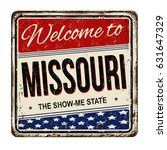 welcome to missouri vintage... | Shutterstock .eps vector #631647329