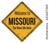 welcome to missouri vintage... | Shutterstock .eps vector #631647365