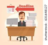 sad unhappy office worker man... | Shutterstock .eps vector #631648127
