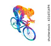 athlete bike cyclist | Shutterstock .eps vector #631651694