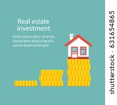 real estate investment. vector... | Shutterstock .eps vector #631654865