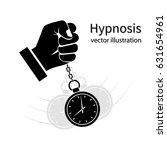 hypnosis icon black. man... | Shutterstock .eps vector #631654961