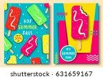 vector set of bright summer... | Shutterstock .eps vector #631659167
