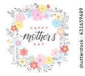 happy mothers day typography...   Shutterstock .eps vector #631659689