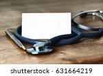 medical business card with... | Shutterstock . vector #631664219