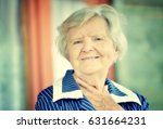 senior happy woman smiling in... | Shutterstock . vector #631664231