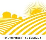 farm abstract landscape. fields ... | Shutterstock .eps vector #631668275