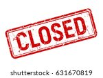 red vintage closed banner ... | Shutterstock .eps vector #631670819