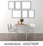 picture frame interior set in... | Shutterstock . vector #631674209