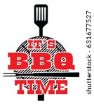 it's bbq time   vector is an... | Shutterstock .eps vector #631677527