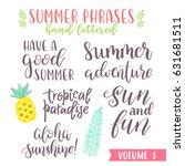 hand written summer lettering...   Shutterstock .eps vector #631681511