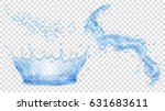 transparent water crown  splash ... | Shutterstock .eps vector #631683611