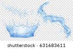 transparent water crown  splash ... | Shutterstock .eps vector #631683611