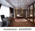 traditional classic home office ... | Shutterstock . vector #631685045