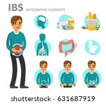 irritable bowel syndrome... | Shutterstock .eps vector #631687919