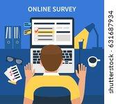 online survey concept design... | Shutterstock .eps vector #631687934