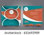 square flyer template. brochure ... | Shutterstock .eps vector #631692989