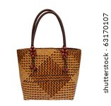 Wicker Bag Isolated