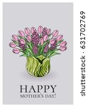 set of mother's day greeting... | Shutterstock .eps vector #631702769
