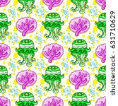 vector nautical pattern.... | Shutterstock .eps vector #631710629