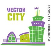 simple fantastic house  vector... | Shutterstock .eps vector #631710719