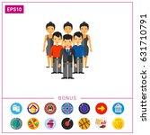 people as team development... | Shutterstock .eps vector #631710791